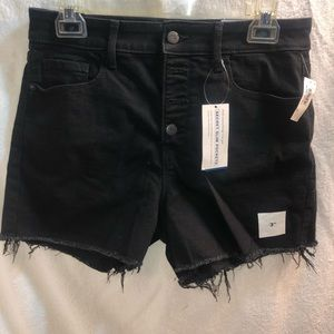 Old Navy High Waisted Black Jean Shorts